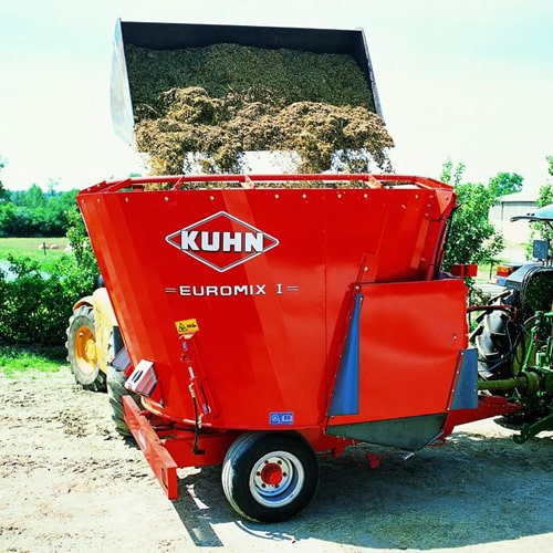 Buy online KUHN Euromix I 870. Machine used to produce mixes with varied fiber providing quality feed