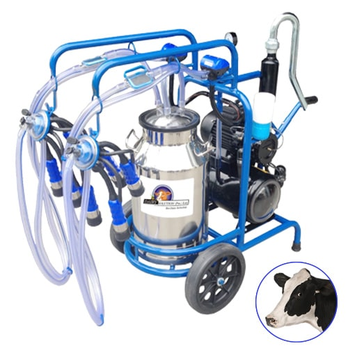 Turkish milking machine Double Cluster Single Bucket for cows